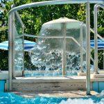 Fontana in piscina Hotel Alba Adriatica